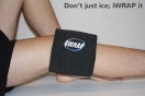iWrap ice pack on knee