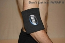 iWrap ice pack on elbow