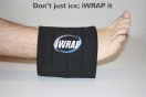 iWRAP ice pack on ankle